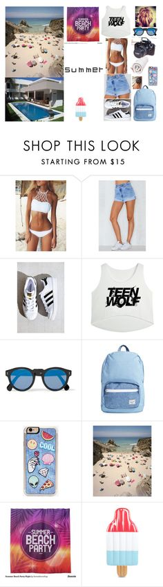 """..."" by filipa-oliveira-lipa ❤ liked on Polyvore featuring Levi's, adidas, Illesteva, Herschel Supply Co., Zero Gravity and Eos"