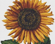 Sunflower - Counted Cross Stitch CHART