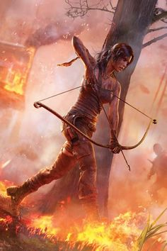 Girl on fire! Archery <3