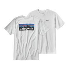 Patagonia P 6 Logo Tee: Patagonia's iconic logo on their American grown organic cotton tee. Ringspun, long-staple organic cotton for softness and durability. Screen-print inks are PVC- and phthalate-free. Taped shoulder seams for comfort and fit retention. U.S.-grown organic cotton is sourced from member farms of the Texas Organic Cotton Marketing Cooperative. Patagonia original art 5.4-oz 100% organic cotton. Fabric is bluesign™ approved 198 g (7 oz) Made in Mexico.