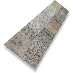 Beige patchwork loper ( 3,00 x 0,80 m) - N°380