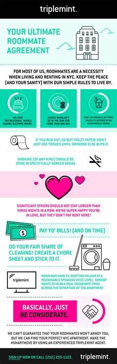 roommate agreement template 09 Apartment Marketing Pinterest - roommate agreement