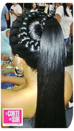 Peinados con cola de caballo