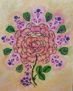#blomstermandala #coloring #coloredpencil #chalk#mariatrolle #beautifulcoloring…