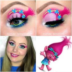 Trolls Poppy Makeup :D