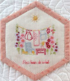 embroidered hexi