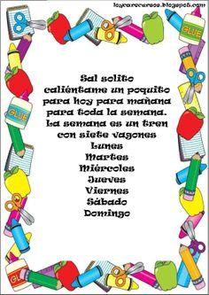 Kids poem in Spanish, poesia de la escuela para niños ...