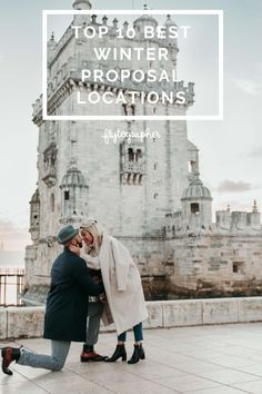 From sunny destinations like Singapore and Cape Town to places where you're more likely to see snow, our top 10 best proposal locations for winter proposal season are here.  📍Lisbon, Portugal Winter Proposal, Romantic Proposal, Surprise Proposal, Proposal Ideas, Best Proposals, Proposal Photographer, Cute N Country, Mayan Ruins, Quebec City