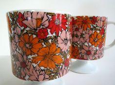 Vintage Pair Holt Howard Mid Century Flower by OwlInAnIvyBush, $35.00