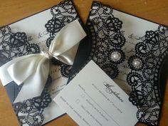 luxury laser cut invitations from www.crystalcoutureweddingstationery.co.uk