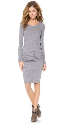cute jersey ruched dress