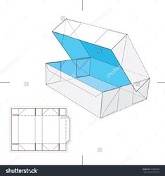 Blueprint Box With Blueprint Layout Stock Vector Illustration 169980890 : Shutterstock
