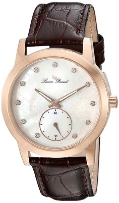 Swiss Legend Women's 'Noureddine' Quartz Stainless Steel and Brown Leather Casual Watch (Model: LP-40037-RG-02MOP-BRW) -- Check out this great watch.