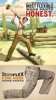 Emancipate your legs with DuluthFlex Fire Hose work pants. Go out there and put DuluthFlex to work, and abolish restrictive pants forever! Get it only at Duluth Trading.