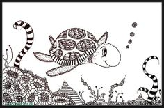 Happy World Turtle Day!  Turtle doodle #zendoodle #zentangle #drawing