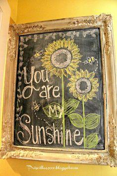 Priscillas: August Sunflower Chalkboard