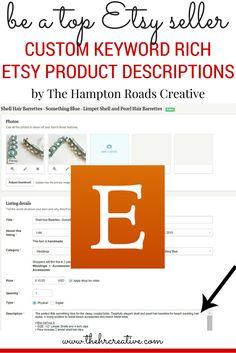 Custom SEO Keyword Rich Etsy Product Descriptions | The Hampton Roads Creative