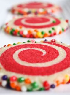 Colorful sprinkle cookies