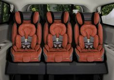 Slim car seats that can fit 3 across in a car.