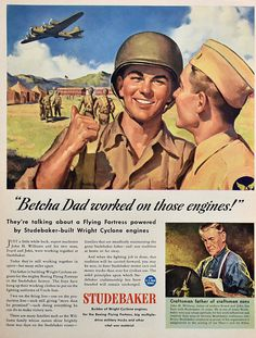 1943 Studebaker Aviation ad | #retroreveries
