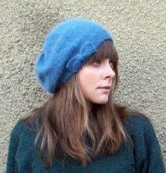 forty percent fringe : sixty percent face: angora beret knitting pattern-free