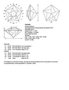 223 best faceting diagram images on pinterest gems gemstones and rh pinterest com