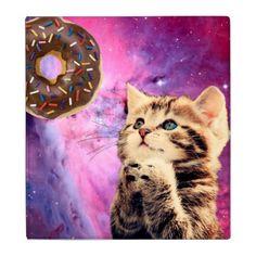 Donut Praying Cat Binder - cat cats kitten kitty pet love pussy