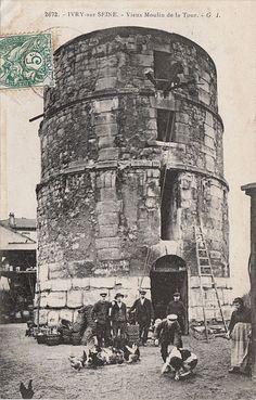 IVRY-SUR-SEINE  Le moulin de la Tour au début du XXe siècle.  Molindelatour.jpg