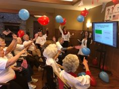 "Home Lake Country @Heritage_Senior at Hartland ""what a team!!"" We love it #seniorcare #braingames #memorycare #olympics #competition more :"