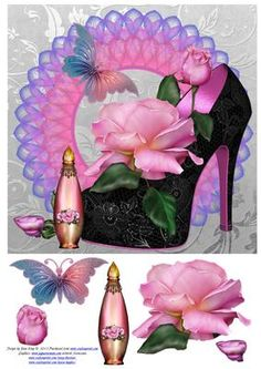 Perfume and Roses on Craftsuprint - Add To Basket!