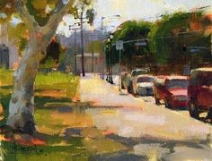 'Leaving Cypress Park' by Jennifer McChristian Oil ~ 7 x 9