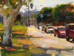 'Leaving Cypress Park' by Jennifer McChristian Oil ~ 7 x 9