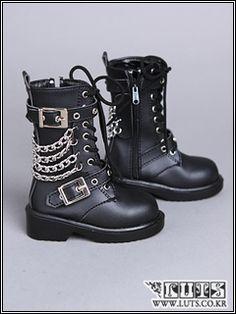 Stud Boots shoes Black Dollmore bjd MSD