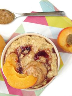 Apricot PB and J Oatmeal #oatmealartist #vegan