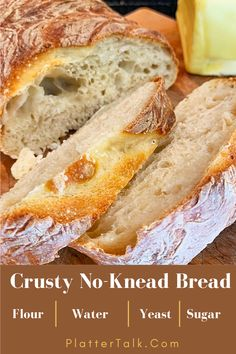 Our easy no-knead bread recipe is for anyone who thinks they cannot make homemade bread! Let Platter Talk prove you wrong, by baking this simple food idea today. A Food, Good Food, Food And Drink, Yummy Food, Delicious Recipes, Knead Bread Recipe, No Knead Bread, Quick Bread Recipes, Most Popular Recipes