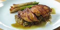 Duck Breast with Spiced Eggplant & Leeks