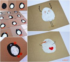 Xmas Stuff For > Christmas Card Crafts For Kids To Make