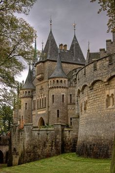 Medieval, Marienburg Castle, Hannover, Germany. This looks like the outside of Hogwarts!