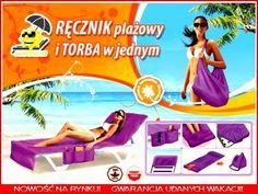 RĘCZNIK plażowy i TORBA w JEDNYM !! frotte PREZENT
