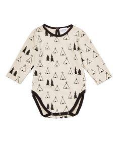 Loving this Ecru & Black Tepee Bodysuit - Infant on #zulily! #zulilyfinds