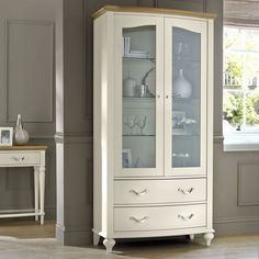 buy montreux pale oak antique white display cabinet online from our style our home see our other bentley designs products