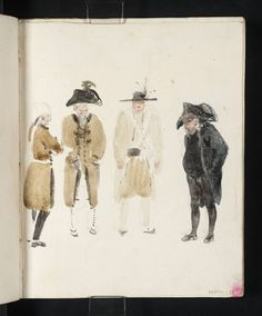 Joseph Mallord William Turner, 'Group of Gendarmes and Officials' 1802