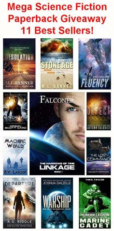 11 Best Selling Science Fiction Paperback Books Giveaway Open to: United States, Canada  Ending on: 03/31/2015