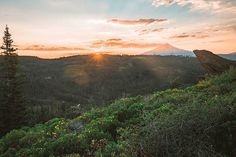 A sunset with Mount Shasta . . . . #pct2016 #pct #pctig #trekthepct #sunset #shasta #hiking #trailchat