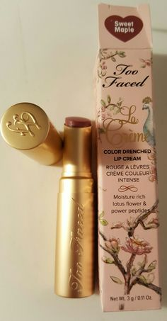 "Too Faced La Creme Color Drenched Lip Cream in ""Sweet Maple"", full size, BNIB. For sale or will swap for another high end item."