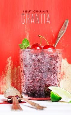 CHERRY POMEGRANATE GRANITA RECIPE