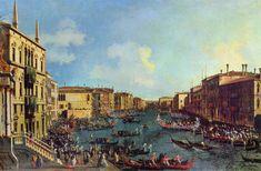 A Regatta on the Grand Canal - Canaletto