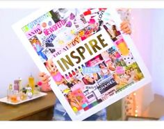 Inspiration magazine collage board by Alisha Marie Cute Room Decor, Teen Room Decor, Cute Crafts, Diy And Crafts, Diy Back To School Supplies, Ideas Hogar, My New Room, Decoration, Diy Art