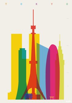 """""""Shapes of Tokyo"""" Art Print by YONI ALTER 