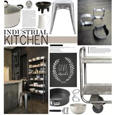 Industrial Kitchen on Polyvore